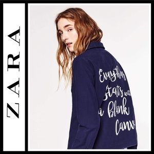 "Zara ""Find Your Way"" Vintage Style Shirt / Jacket"